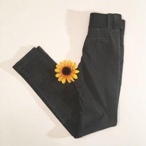 NWT black/gray wash Alice + Olivia skinny pants 0